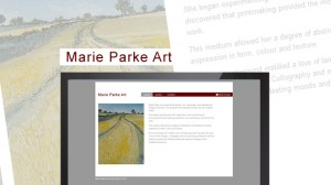Website Design for Marie Parke, Artist