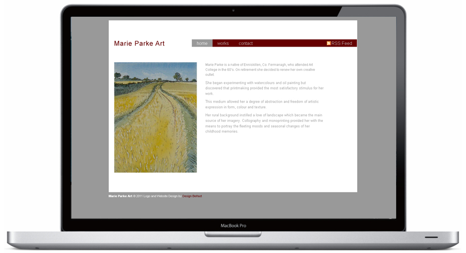 Website Design for Marie Parke, Artist Belfast