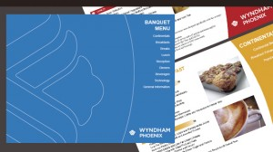 Menu Design for Wyndham Hotels