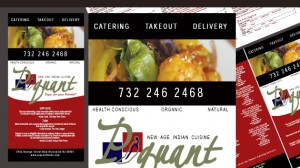 Menu Design for Piquant Restaurant New Jersey