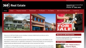 Website Design for 360 Real Estate Brisbane