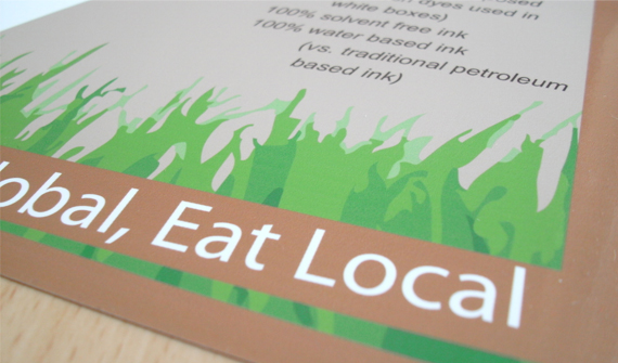 Leaflet Design for Think Local Eat Global