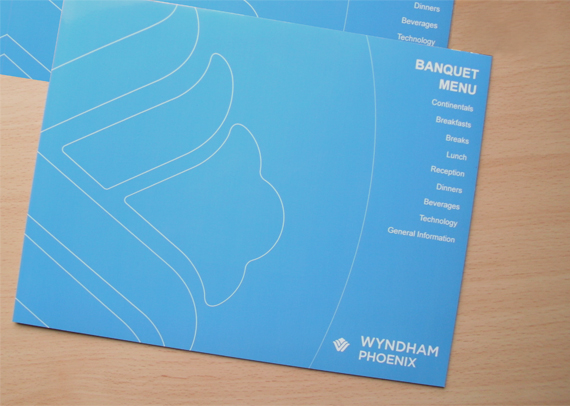Menu Design For Wyndham Hotel