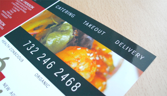Menu Leaflet Design for Piquant Restaurant