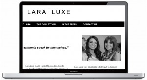 laraluxe website design