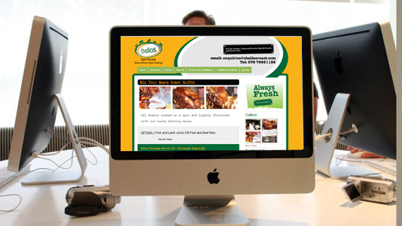 graphic design belfast challas roast website design