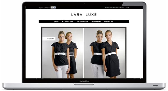graphic design belfast lara luxe website design